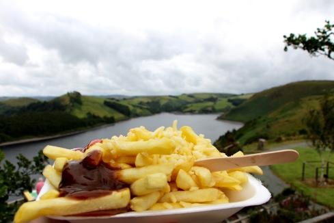 Chips and brown sauce, Wales